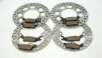 2007-2013 Yamaha 700 Grizzly YFM700 Front and Rear Brake Pads and Brake Rotors