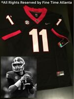 NEW Jake Fromm Georgia Bulldogs UGA Mens Black Out Jersey Chubb Gurley  Holyfield fee50ce77