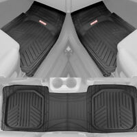 Motor Trend TriFlex Deep Dish All Weather Floor Mats for Car SUVs Trucks - Black