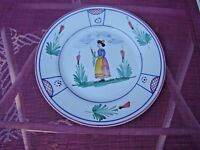 2 Deruta Pottery plate HAND PAINTED MADE IN ITALY one small dish
