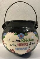 Cleminsons California Pottery Hand Painted Kettle Kitchen Wall Hanging Holder