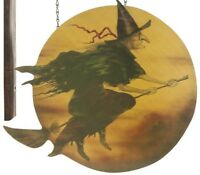 Witch Flying Over Golden Moon Arrow Replacement Halloween Sign Decoration Chains