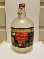 Vintage 1 Gallon Coca Cola Fountain Syrup Glass Jar bottle
