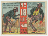 Black Americana Before After Medical Cure 1880's Trade Card