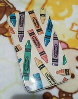Vintage Crayola Tin Pencil Case 1991 EXTREMELY RARE hinged lid