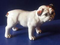 J Filmont Caen or Bavent VINTAGE FRENCH pottery bull dog from FRANCE
