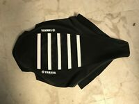 New Ribbed Yamaha Logo Seat Cover Black/White Ribs YFZ450 YFZ 2004-2009 QUAD ATV