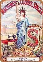 Metal Sign - French Singer Sewing Machines - Vintage Look Reproduction