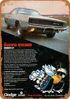 Metal Sign - 1968 Dodge Charger R/T - Vintage Look Reproduction 2