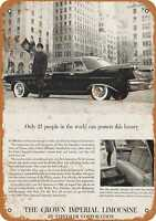 Metal Sign - 1960 Chrysler Imperial Limousine - Vintage Look Reproduction