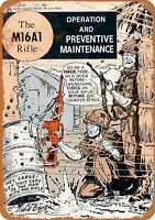 Metal Sign - 1969 US Army M16A1 Rifle Manual - Vintage Look Reproduction