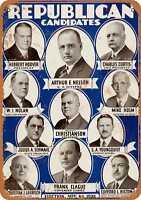 Metal Sign - 1928 Minnesota Republican Candidates - Vintage Look Reproduction