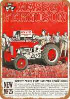 Metal Sign - Massey-Ferguson MF 25 Tractors - Vintage Look Reproduction