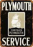 Metal Sign - Chrysler Plymouth Service - Vintage Look Reproduction