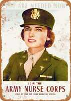 Metal Sign - 1942 Join the Army Nurse Corps - Vintage Look Reproduction