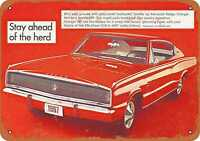 Metal Sign - 1967 Dodge Charger Front - Vintage Look Reproduction