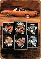 Metal Sign - 1968 Dodge Charger Motors - Vintage Look Reproduction