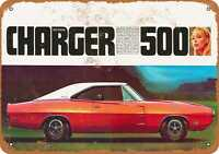 Metal Sign - 1970 Dodge Charger 500 - Vintage Look Reproduction