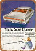 Metal Sign - 1966 Dodge Charger - Vintage Look Reproduction