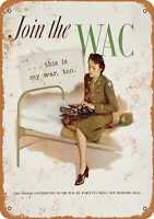 Metal Sign - 1943 Join the Women's Army Corps - Vintage Look Reproduction