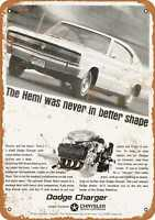 Metal Sign - 1966 Dodge Charger 426 Street Hemi - Vintage Look Reproduction