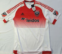 5b292e90cfa Adidas Performance Mens DC United White Red Soccer Jersey MLS Size XL  120