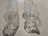 McDonalds Batman Forever 1995 Glass Mugs Complete Set of 4 Vintage Free Shipping