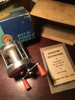 Vintage fishing Reel Ocean City 1999 Philadelphia With Box And Instructions!!