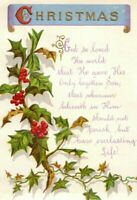 1880's Campbell & Tudhope Religious Christmas Victorian Trade Card P141