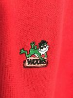 Vintage Rare Woods Sweater Tractor Implement Supply Agriculture Farm          4