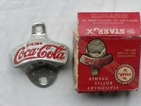 VINTAGE COCA-COLA STATIONARY BOTTLE OPENER STARR