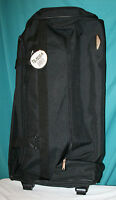 NWT Rolling Duffle Bag Suitcase 29quot; Travel Select Telescoping Handle BLACK NEW