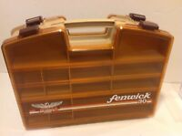 Fenwick 30 Fising Tackle Case Two sided with clip closures Great Condition