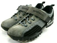 Shimano MT-40 $120 Men's Cycling Sports Shoes Size 10 Black Gray