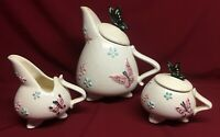 Vintage Hull Butterfly Tea Pot-Creamer & Sugar Bowl
