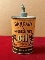 BARDAHL SPORTSMEN'S LEAD TOP OVAL TIN OIL CAN empty white accents VERY NICE