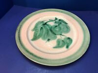 "Stangl Pottery Fruit Green Terra Rose 14 1/2"" Charger Server Platter Chop Plate"