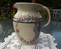 VERY LARGE LOVELY PITCHER FROM CASEY POTTERY MARSHALL TEXAS