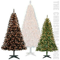 CLASSIC PRE-LIT ARTIFICAL CHRISTMAS TREES / WHITE / GREEN / BLACK / YOUR CHOICE!