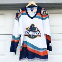 f8ebbafcc2c 90s Vintage New York Islanders Starter Fisherman's Alt Jersey w Patches XL  Adult