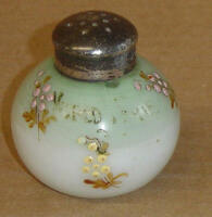 EAPG WHITE ENAMELED LITTLE APPLE SHAKER MOUNT WASHINGTON GLASS 1886 1900