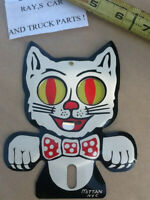 NEW HAPPY CAT VINTAGE STYLE LICENSE PLATE TOPPER