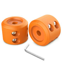 MICTUNING 2Pcs Winch Cable Hook Stopper Waterproof for ATV UTV Winches Orange