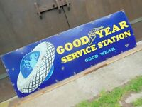 Original 1930's Good Year Tire Service Station Porcelain Sign 24