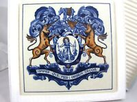 Delft Holland Pharmacist Pill Tile Apothecaries Coat of Arms 1982 BW Co Replica