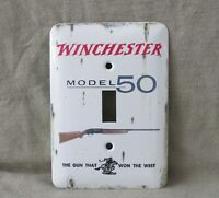 Winchester Model 50 Shotgun Metal Light Switch Cover New Old Tin Sign Look