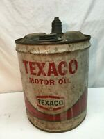 Vintage Texaco Oil Drum Multi Lube Can Garage Gas and Oil Decor. 13.5x 12in