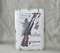 Winchester Model 77 Metal Electrical Wall Plate Cover New Old Tin Sign Look