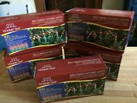 Lot of 5 HOLIDAY Time Double Lights Red/Green Indoor/Outdoor Sets 33 feet each