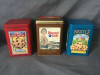 1980's Pillsbury Hungry Jack Collectible Tin and two Nestle Tollhouse tins